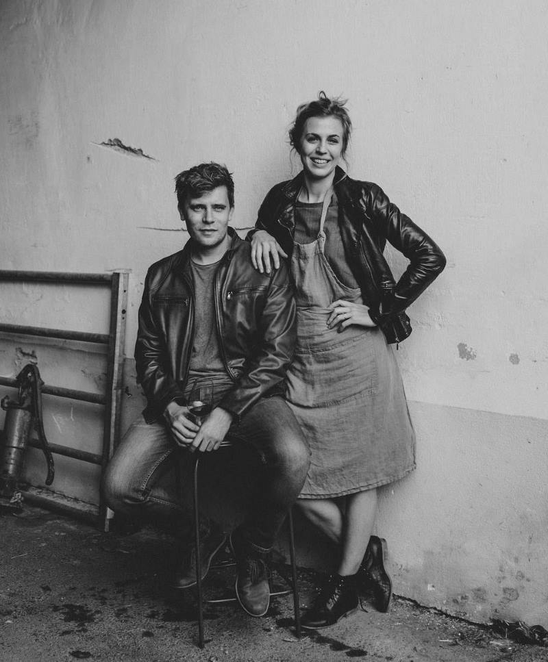 Gernot und Melanie Zechmeister schwarzweiß