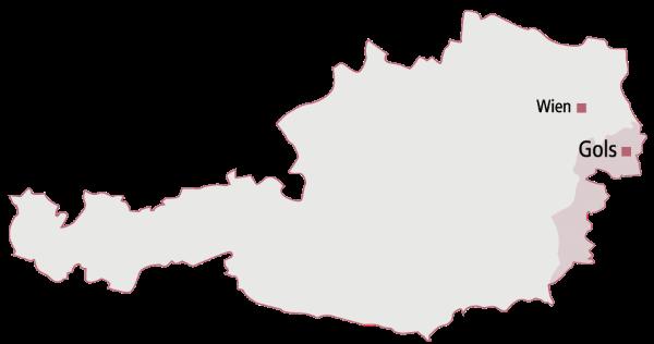 Karte Gols Burgenland Österreich